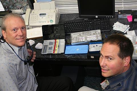 Dr Larson and Ankylos representative.